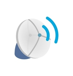 Wireless connection icon isometric 3d style vector image