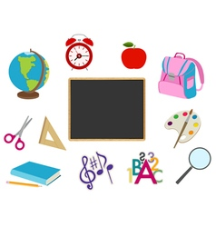 School cartoon objects vector