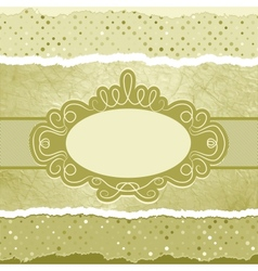 Vintage elegant card template copy space eps 8 vector