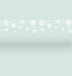 abstract silver and white snowflakes christmas vector image vector image