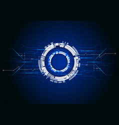 blue abstract technological background with vector image