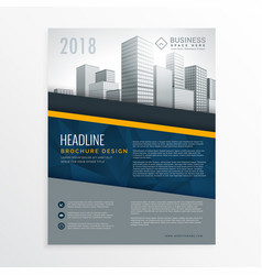 Blue annual report brochure cover page design vector