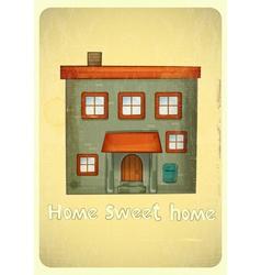 Cartoon Houses Postcard vector image