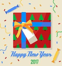 Christmas gift 2017 vector image vector image