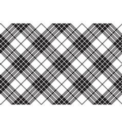 Clan cameron tartan diagonal black white seamless vector