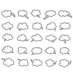 clouds speak bubbles vector image vector image