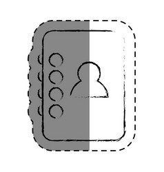 Contacts agend isolated icon vector