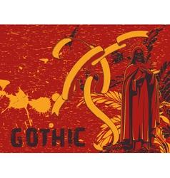 dark gothic background vector image vector image