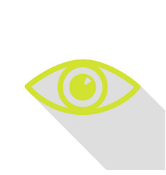 Eye sign pear icon with flat style vector