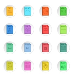 File extension icons set vector