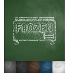 Freezer icon vector
