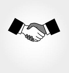 Icon handshake vector