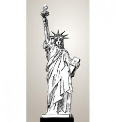 liberty status vector image