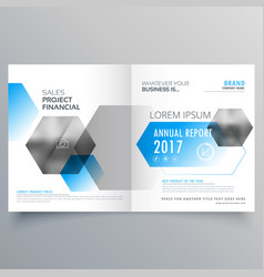 modern creative business cover page template with vector image