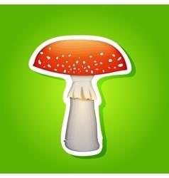 mushroom sticker design element eps 10 vector image vector image