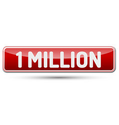 One million - abstract beautiful button with text vector
