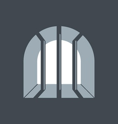 prison window vector image vector image