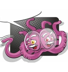 raspberry alien vector image vector image
