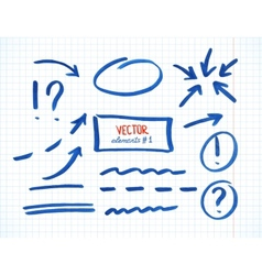 Set of correction and highlight elements part 1 vector