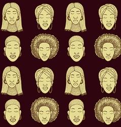 Sketch african woman vector