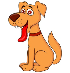 Smiling dog cartoon vector image vector image