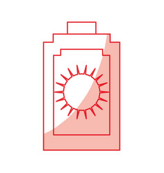 sun bronzer isolated vector image vector image