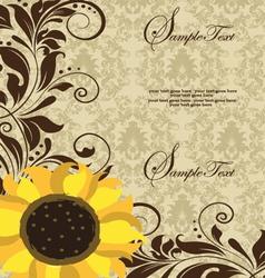 Sunflower Wedding Invitation vector image