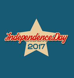 Usa independence day banner with star vector