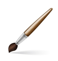 Paint brush realistic isolated on gray background vector