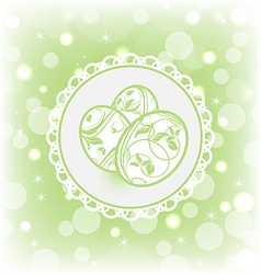Easter card with ornate eggs vector
