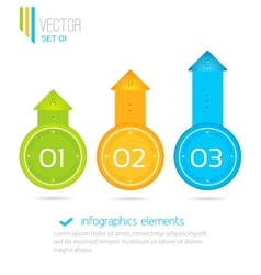 Infographics elements progress icons for three vector image