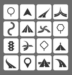 road movement signs and traffic navigation icons vector image