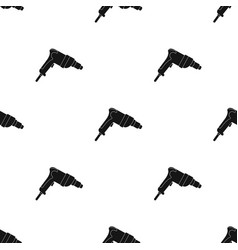 Drill icon in black style isolated on white vector