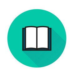Book icon isolated on round background vector