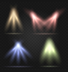 Stage lighting set vector