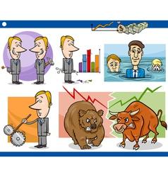 businessmen cartoon concepts set vector image