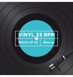 Vinyl 33 rpm mockup 03 vector