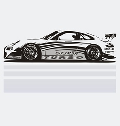 Turbo Car vector image