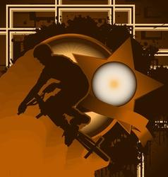 bmx biker vintage design vector image