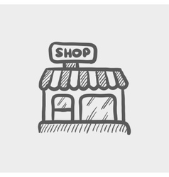 Business shop sketch icon vector