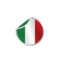 Glossy theme italy national flag vector