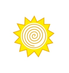 Abstract sun logo vector