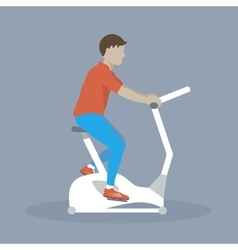 Man doing dycling exercise vector