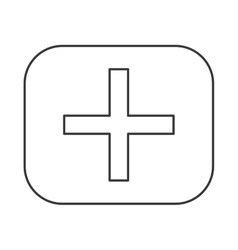 Addition math symbol icon vector
