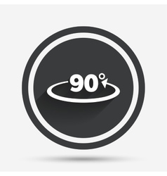 Angle 90 degrees sign icon Geometry math symbol vector image vector image