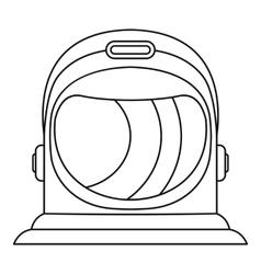 Astronaut helmet icon outline style vector