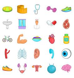 Average age icons set cartoon style vector