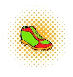 Baseball boot icon comics style vector