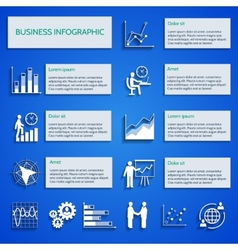 Business chart icons infographic vector image