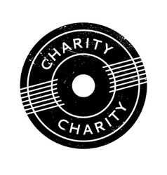 Charity rubber stamp vector